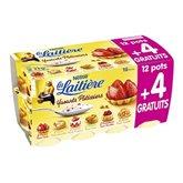 Yaourt La Laitière Fruits patissiers 12x125g