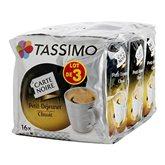 Tassimo Café Petit déjeuner  Classic - Dosettes 3x16 - 399g