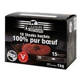 Eleveurs de Bretagne Steak haché pur bœuf x10 15%MG Les Éleveurs de Bretagne - 1kg