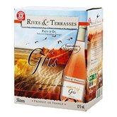 Rives et Terrasses Vin rosé  Pays d'Oc IGP - Bag in Box 3L