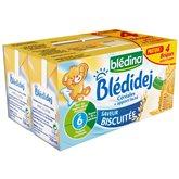 Blédina Lait Blédidej Blédina Biscuité - Dès 6 mois - 4x250ml