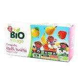 Compote Bio Village 4 parfums variés - 12x90g