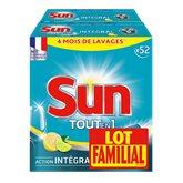 Tablettes Sun Lave vaisselle Citron 2x52