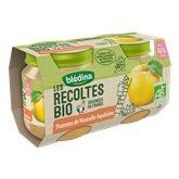 Blédina les Récoltes Bio 2 Petits Pots Pommes de Nouvelle Aquitaine 260 g -