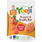 Yooji Ma purée de fruits bio- Pomme, fraise, basilic surgelée bio dès 9 mois