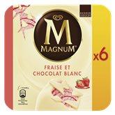 Magnum Glace  Fraise et blanc x6 - 540g