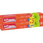 Alfapac Film étirable Alfapac Tout en 1 - 2x25m