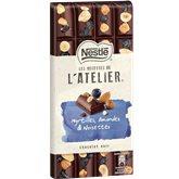 Nestlé Chocolat  L'Atelier Noir et myrtille - 195g