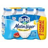 Lactel Matin léger de  1.2%mg bouteille - 8x1L
