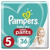 Pampers Culottes Baby-Dry Pampers T5 - Nappy Pants - x36 changes