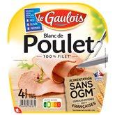 Le Gaulois Blanc de poulet Le Gaulois Sans OGM - x4 tranches - 160g