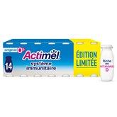 Actimel Yaourts à boire Actimel Danone 0% Nature - 14x100g