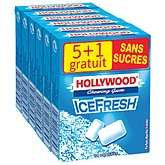 Hollywood Chewing-gum menthe  IceFresh sans sucre x5+1gt 87gr