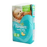 Pampers Couches Baby Dry  T2 Géant - x58
