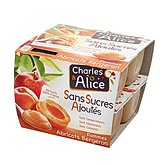 Charles & Alice Compote  Pomme / Abricot - 8x100g